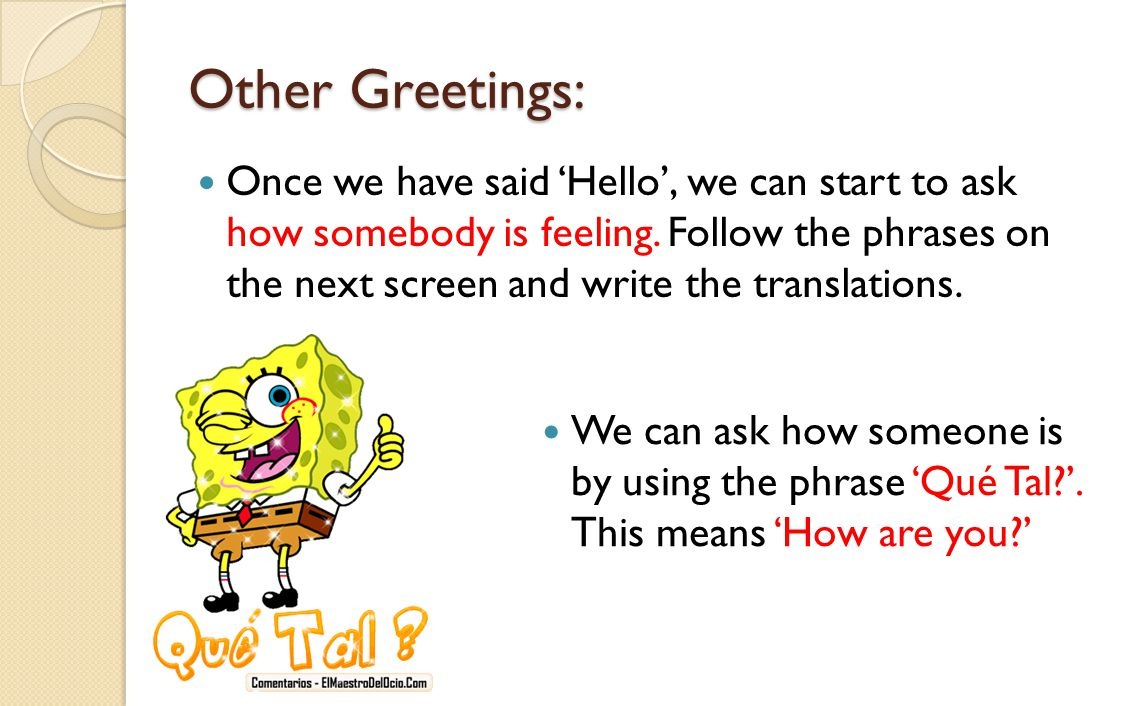 Other Greetings: