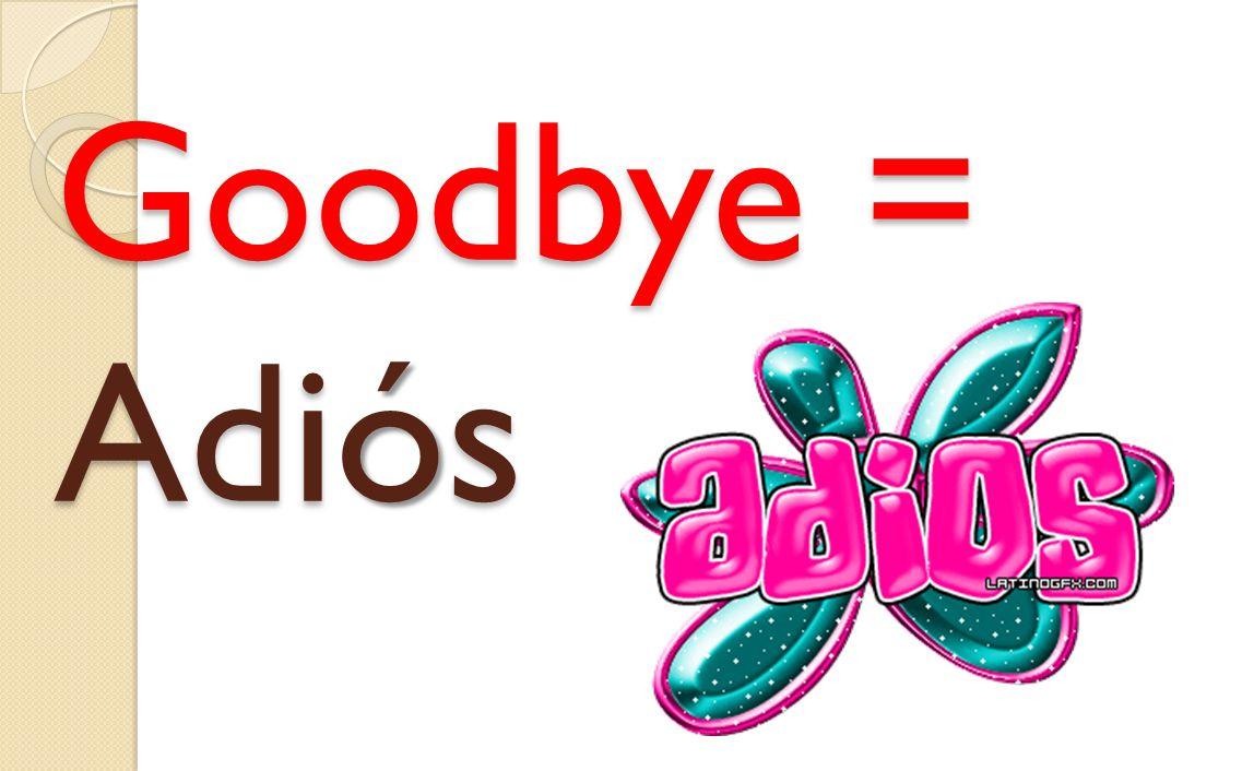 Goodbye = Adiós
