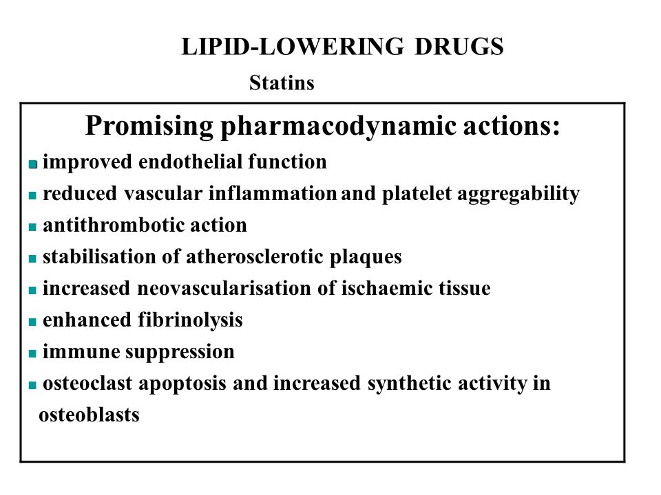 Promising pharmacodynamic actions: