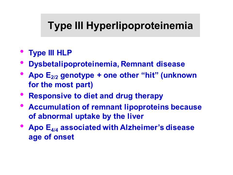 Type III Hyperlipoproteinemia