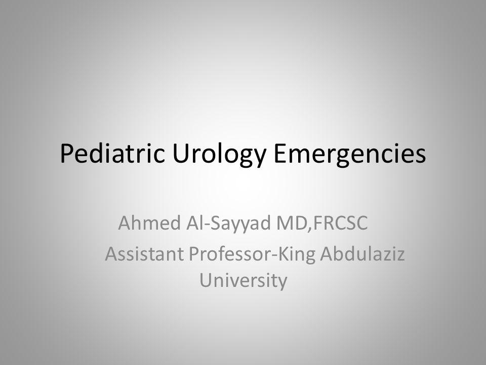Pediatric Urology Emergencies