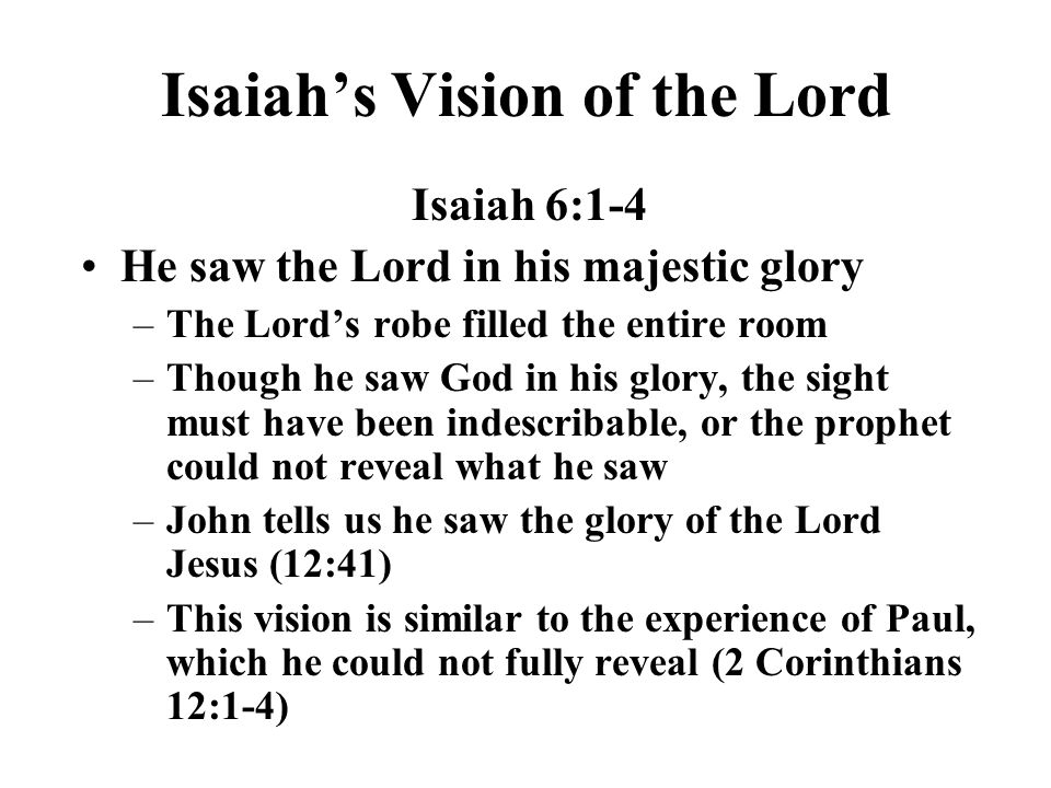 Isaiah's Vision of the Lord