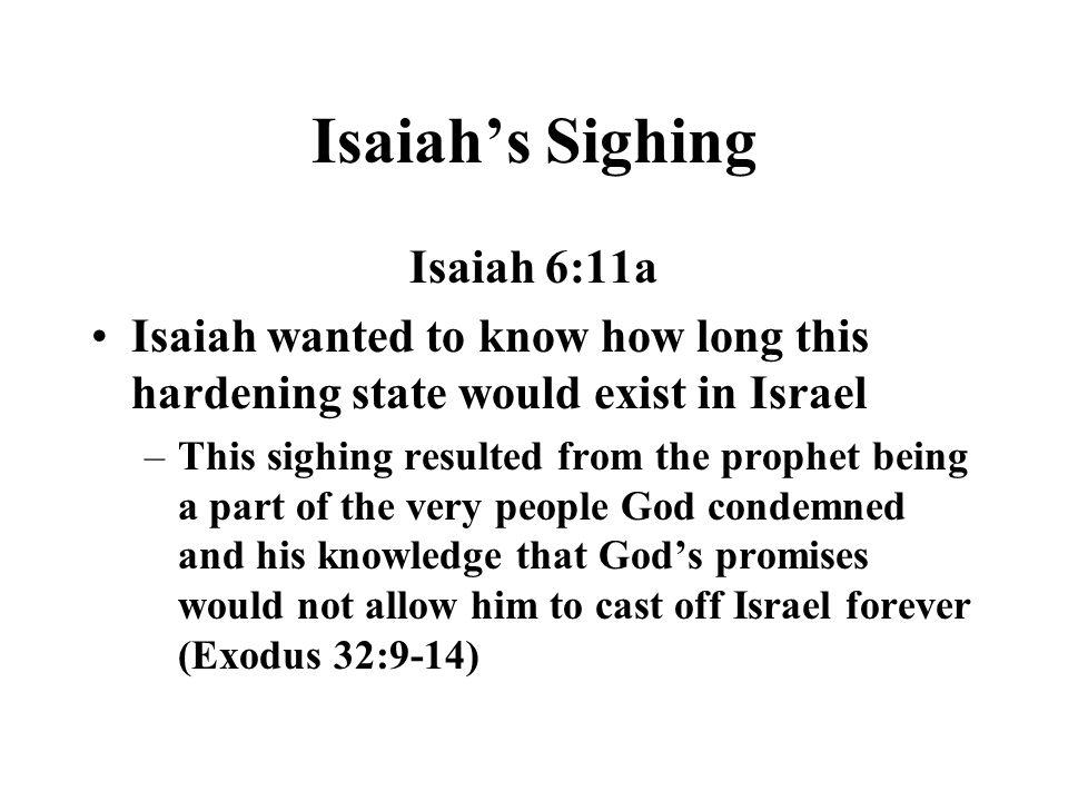 Isaiah's Sighing Isaiah 6:11a