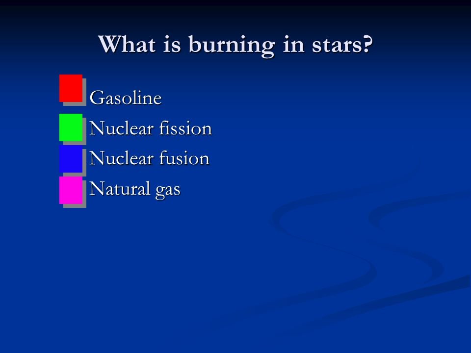 What is burning in stars