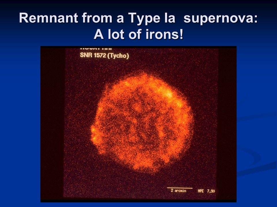 Remnant from a Type Ia supernova: A lot of irons!