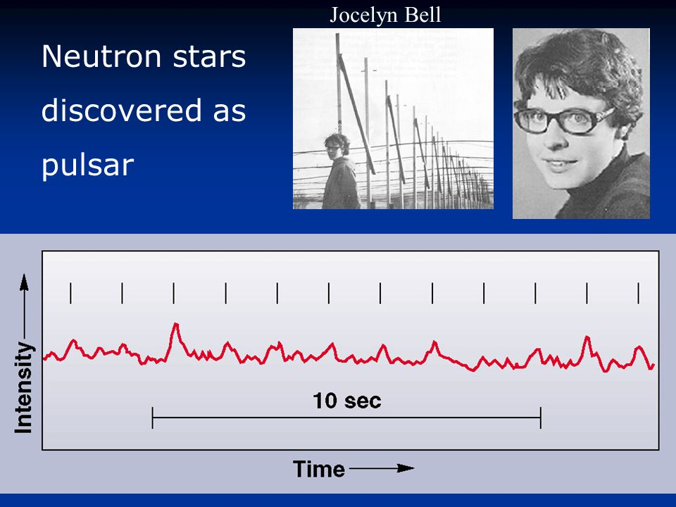 Jocelyn Bell Neutron stars discovered as pulsar