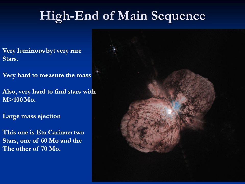 High-End of Main Sequence