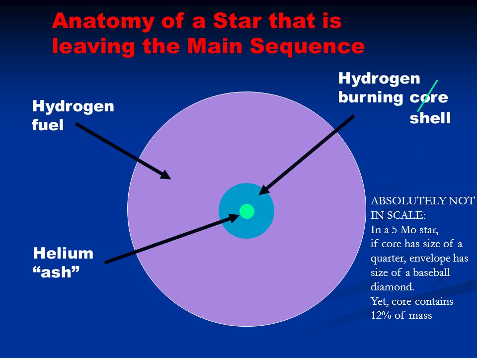 Anatomy of a Star that is leaving the Main Sequence
