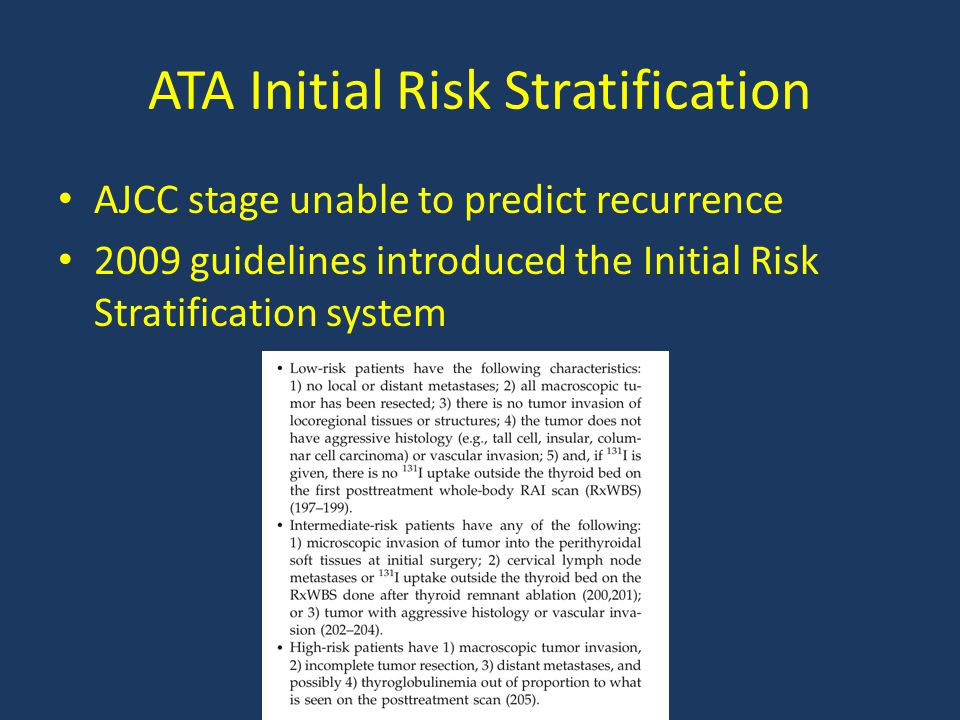 ATA Initial Risk Stratification