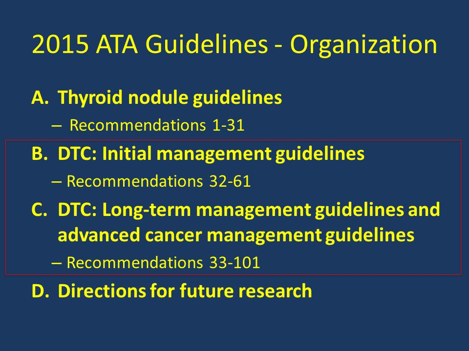 2015 ATA Guidelines - Organization