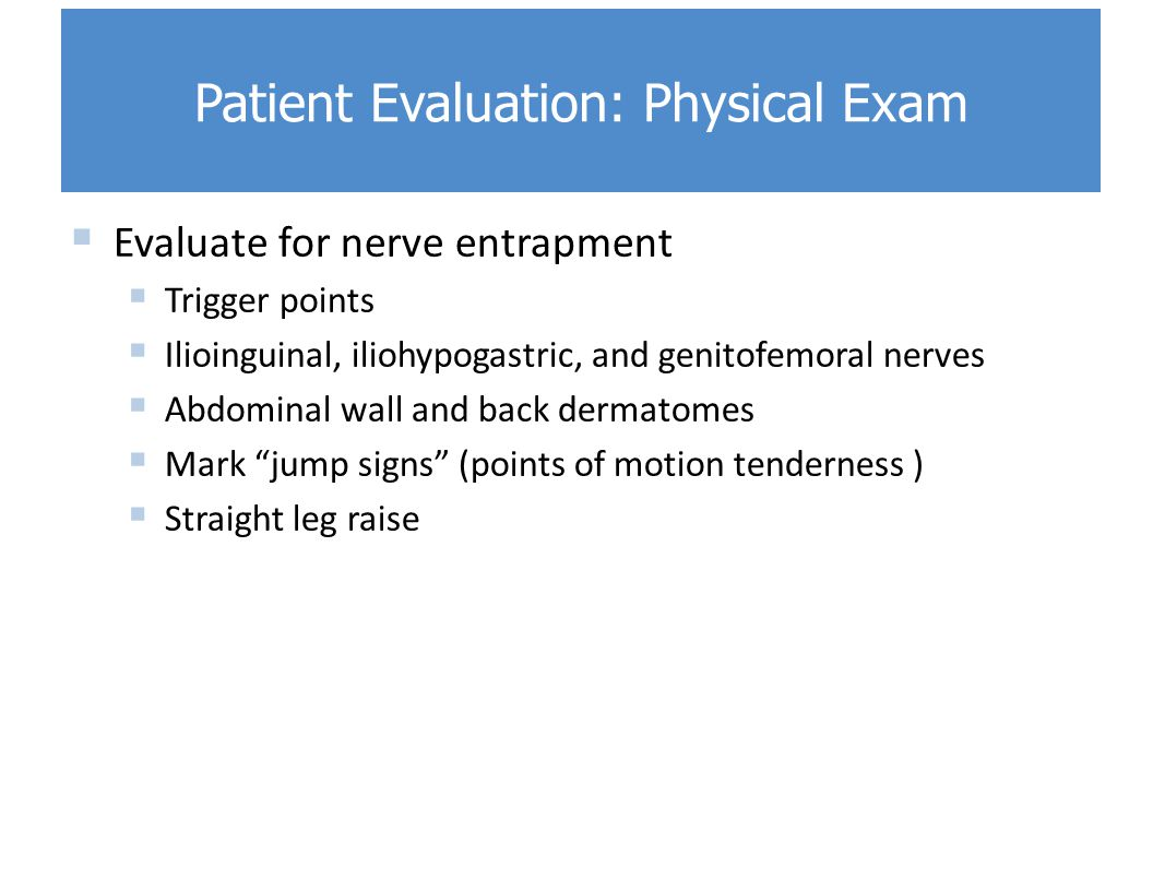 Patient Evaluation: Physical Exam