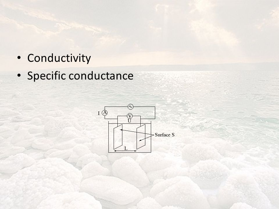 Conductivity Specific conductance