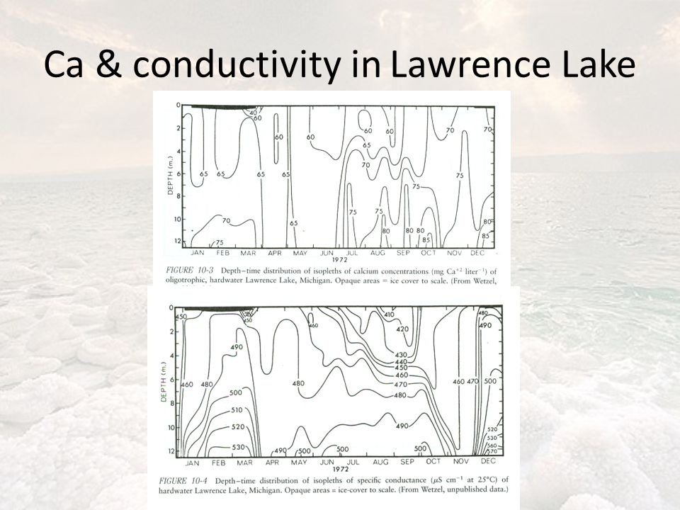 Ca & conductivity in Lawrence Lake