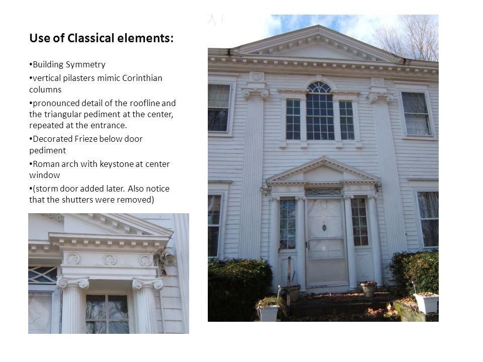 Use of Classical elements:
