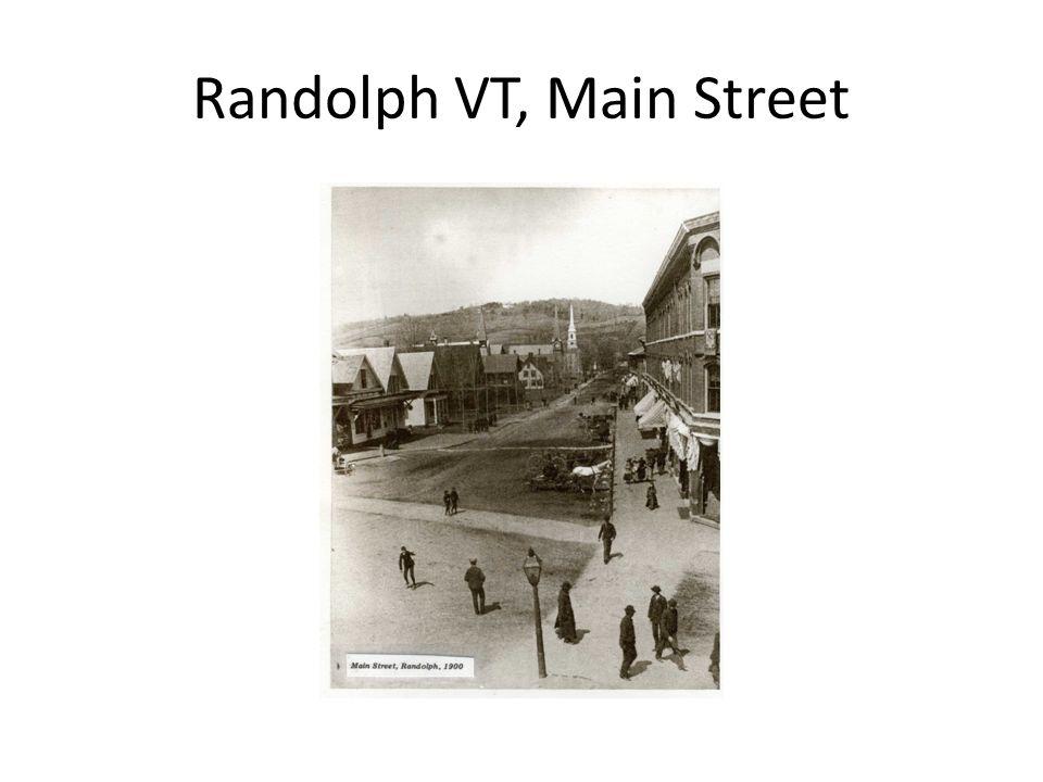 Randolph VT, Main Street