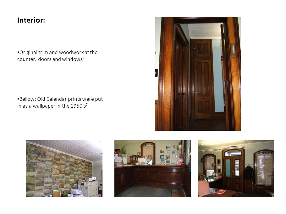 Interior: Original trim and woodwork at the counter, doors and windows7.