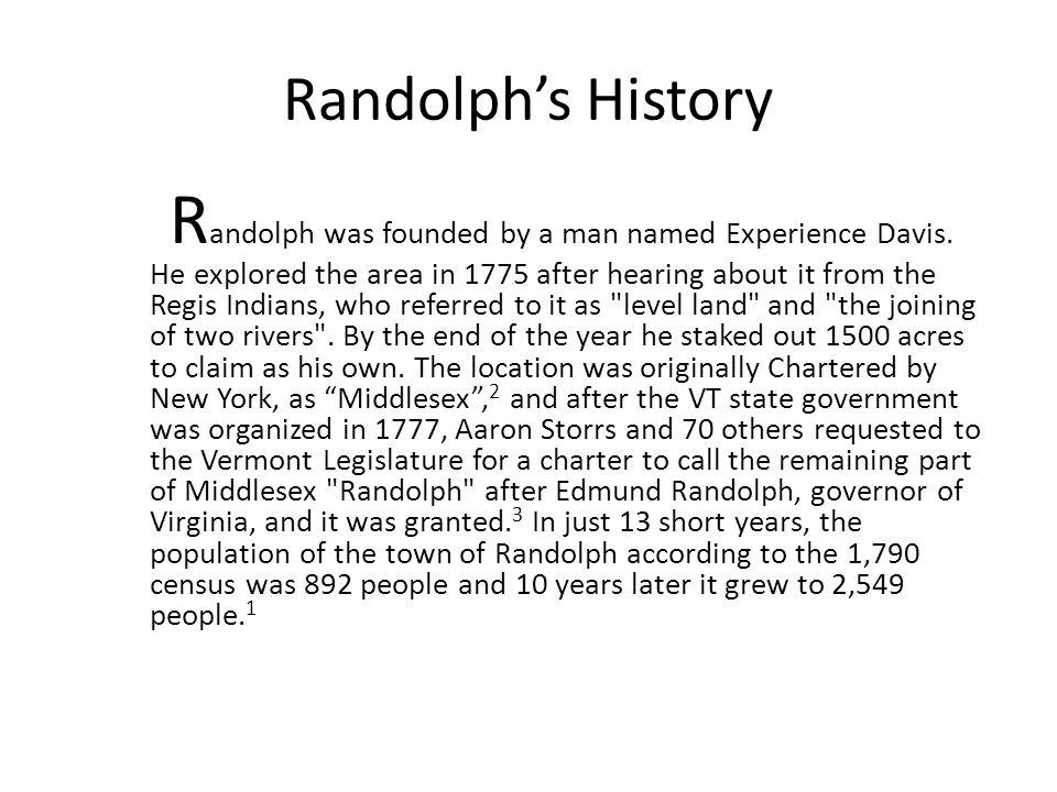 Randolph's History