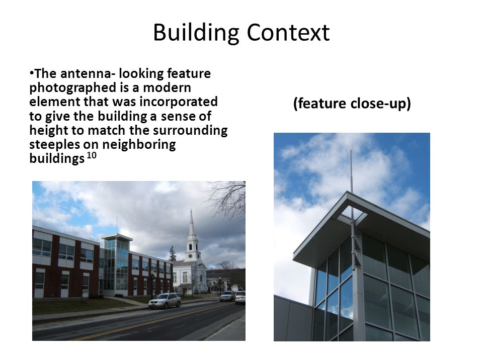 Building Context (feature close-up)