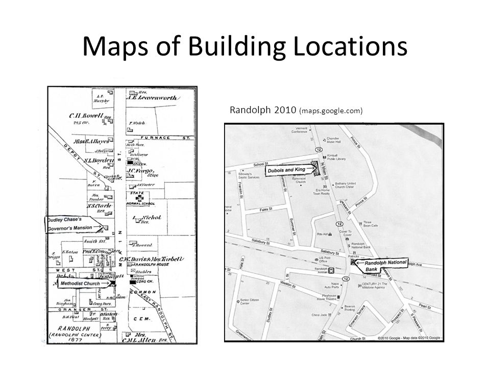 Maps of Building Locations