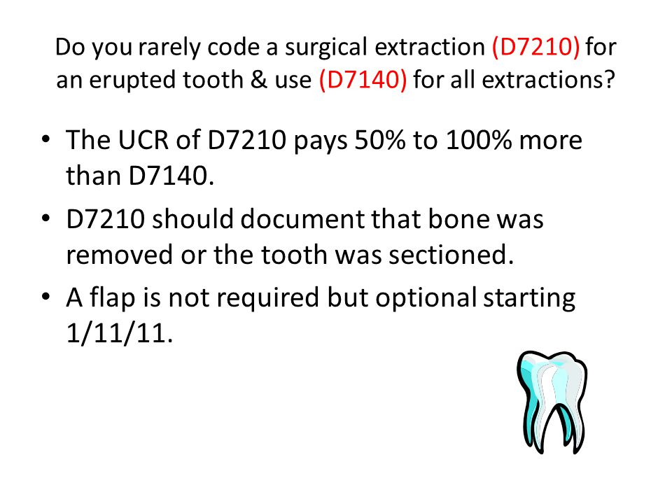 The UCR of D7210 pays 50% to 100% more than D7140.