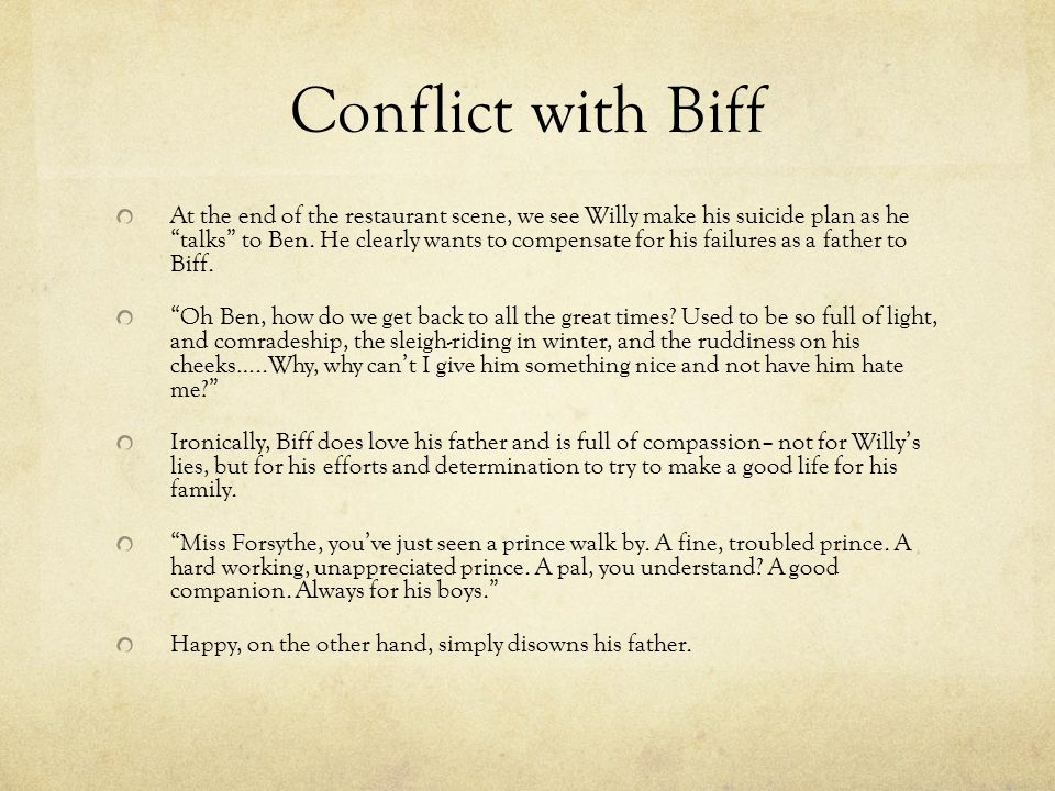 Conflict with Biff
