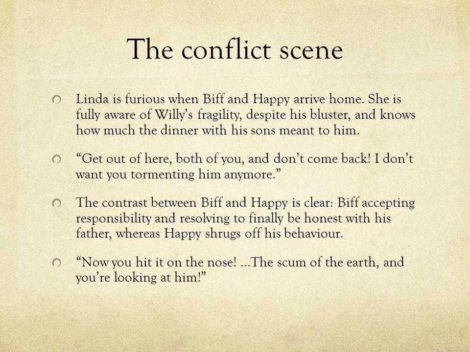 The conflict scene