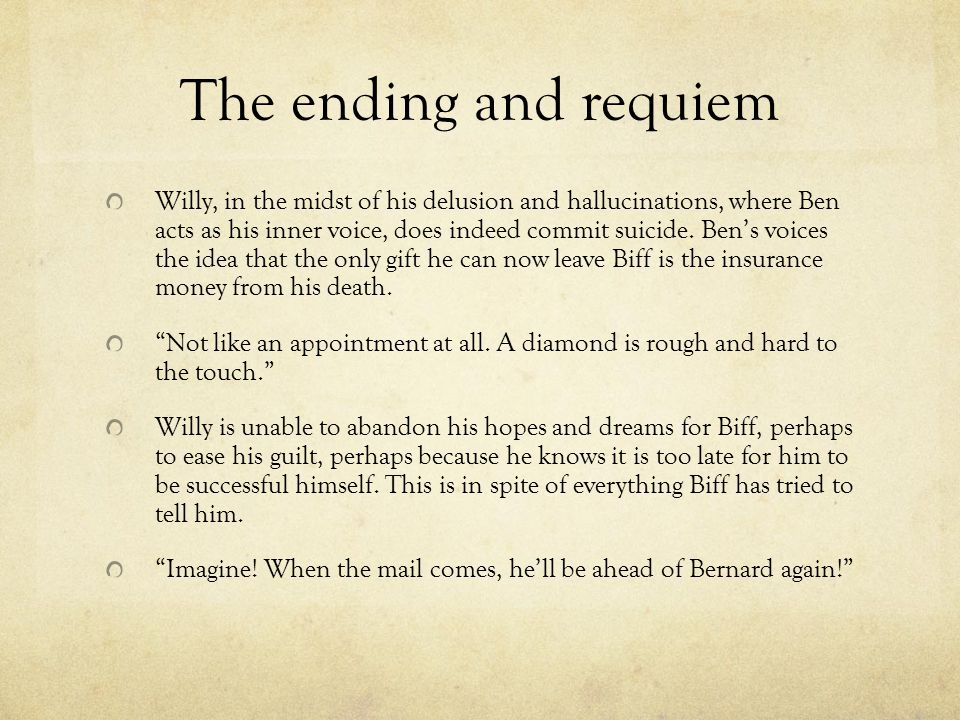 The ending and requiem