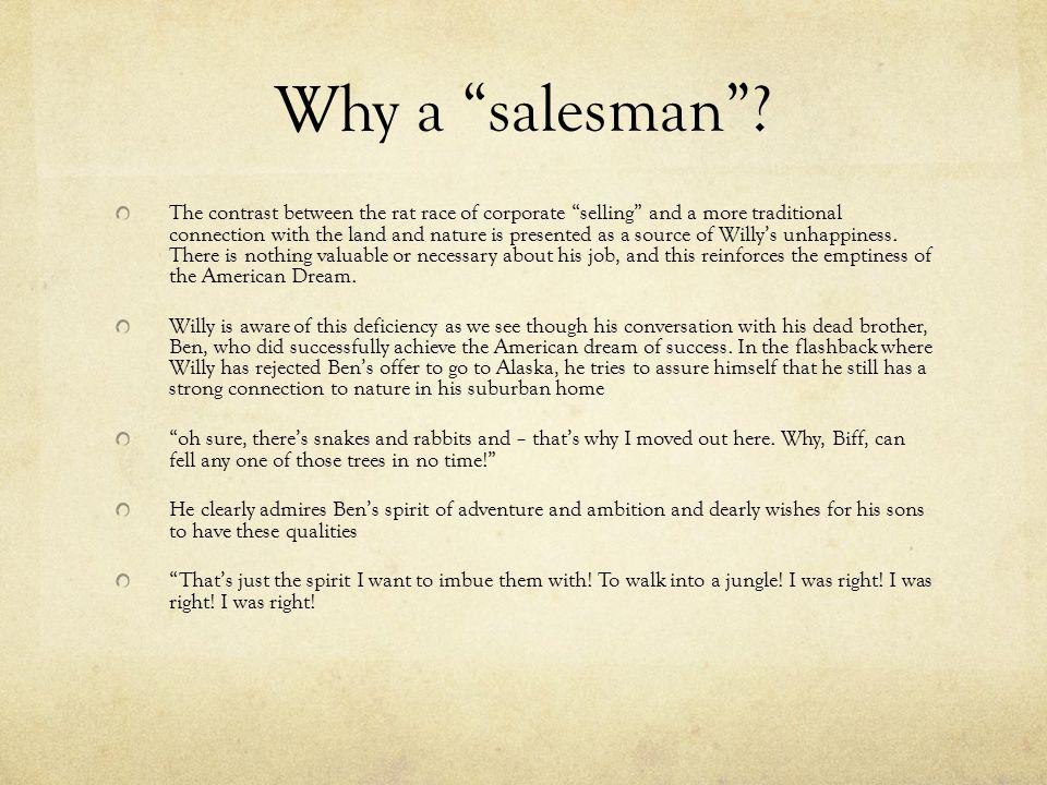 Why a salesman