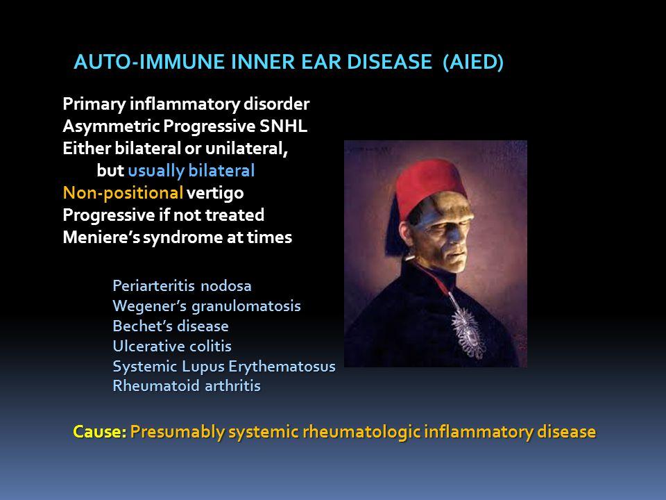AUTO-IMMUNE INNER EAR DISEASE (AIED)