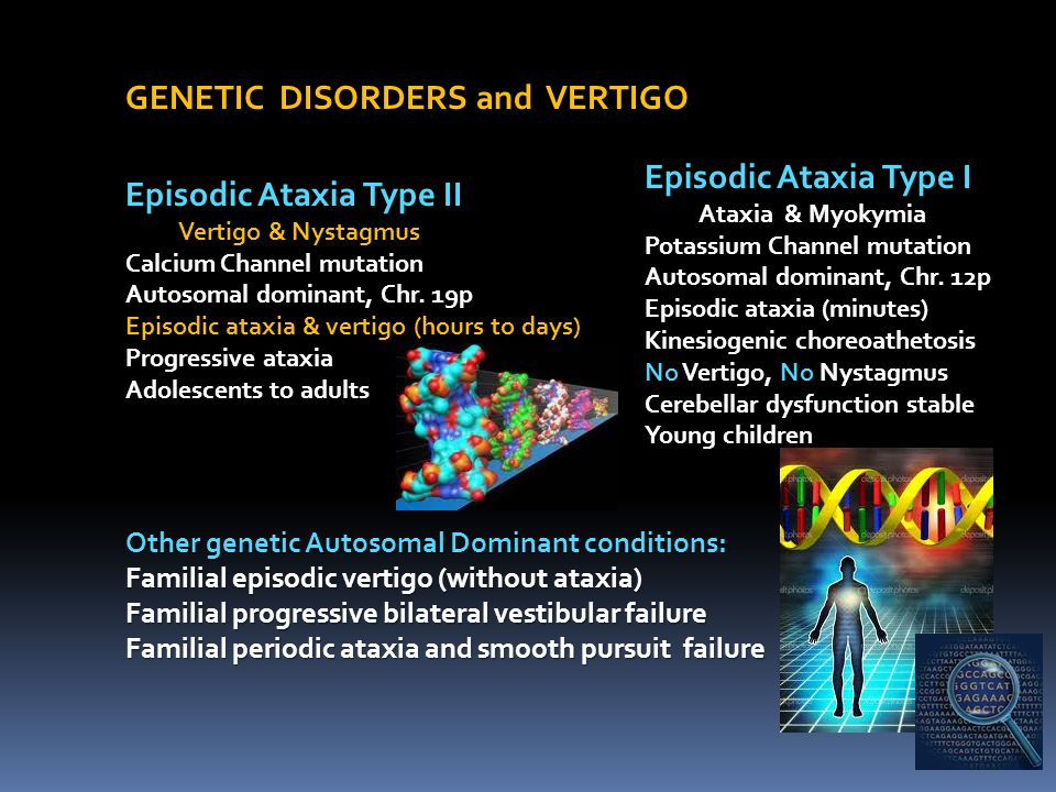 GENETIC DISORDERS and VERTIGO