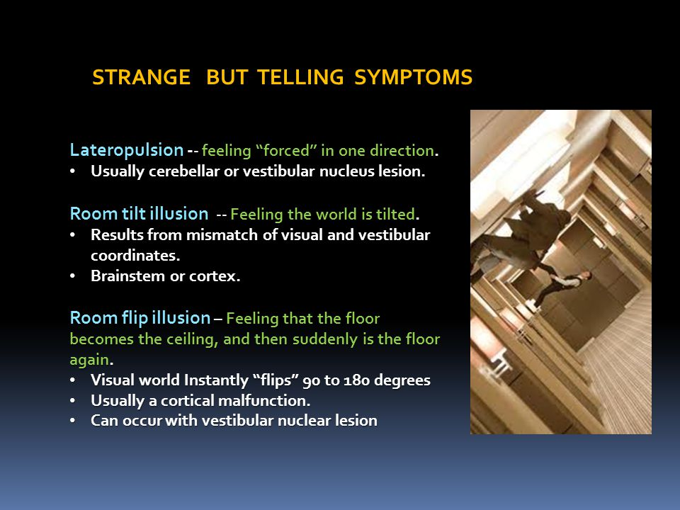 STRANGE BUT TELLING SYMPTOMS