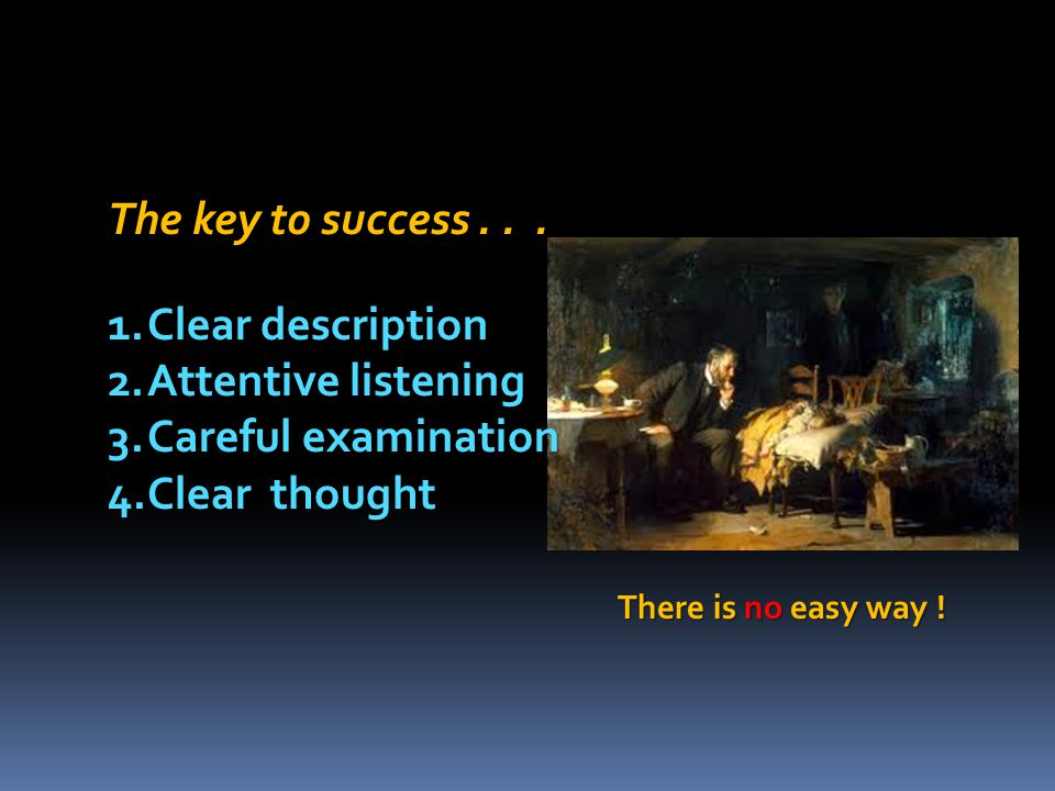 The key to success . . . Clear description Attentive listening
