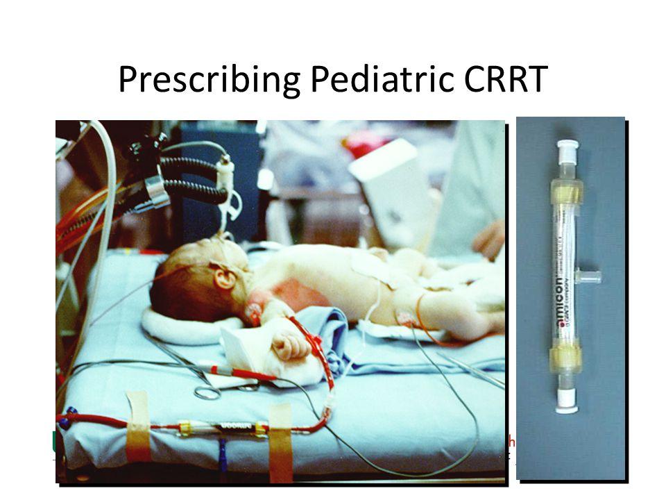 Prescribing Pediatric CRRT