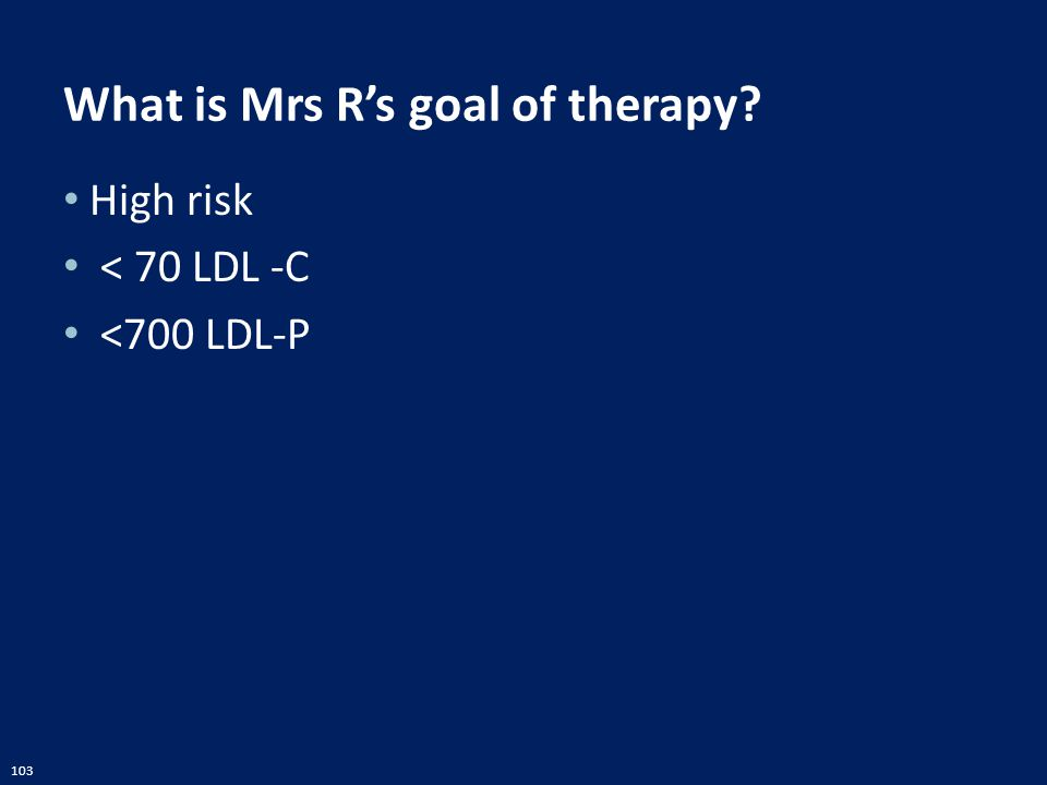 What is Mrs R's goal of therapy