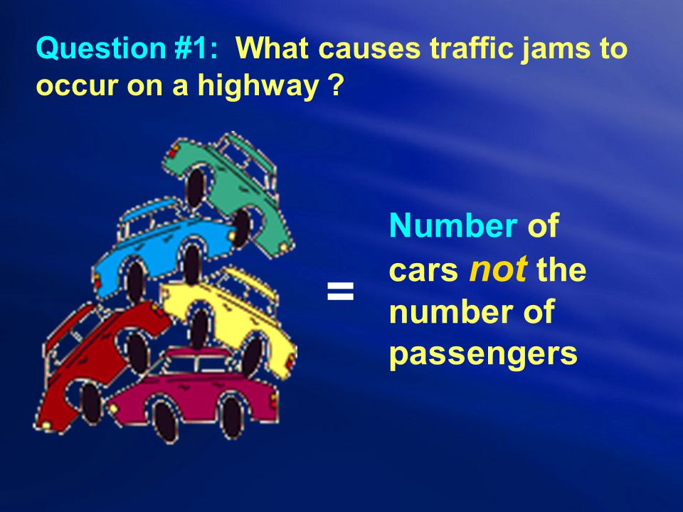 Question #1: What causes traffic jams to occur on a highway