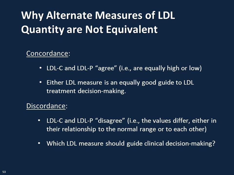 Why Alternate Measures of LDL Quantity are Not Equivalent
