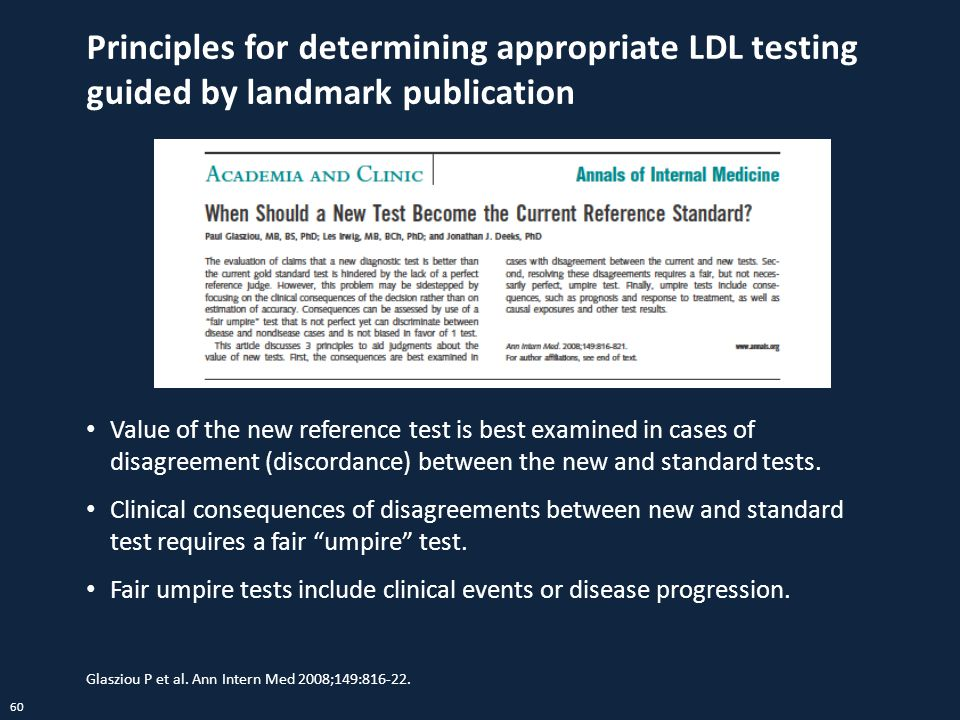 Principles for determining appropriate LDL testing guided by landmark publication