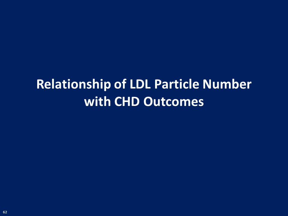 Relationship of LDL Particle Number with CHD Outcomes