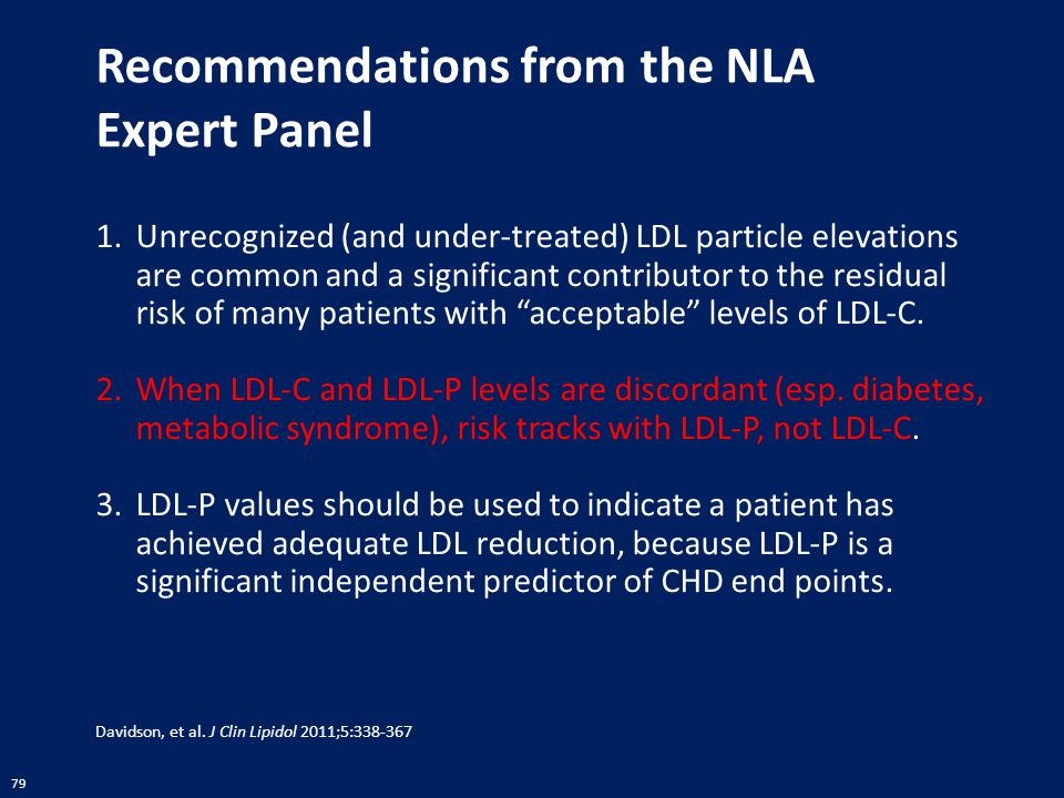 Recommendations from the NLA Expert Panel