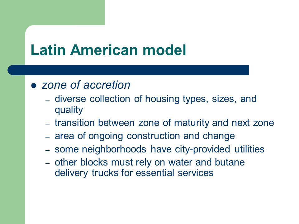 Latin American model zone of accretion