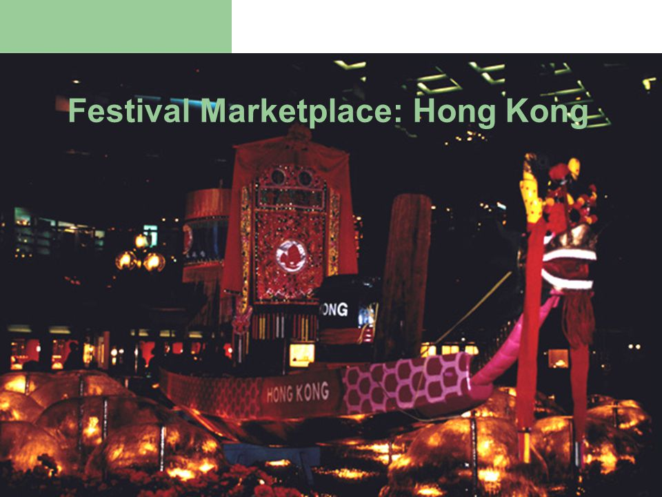 Festival Marketplace: Hong Kong