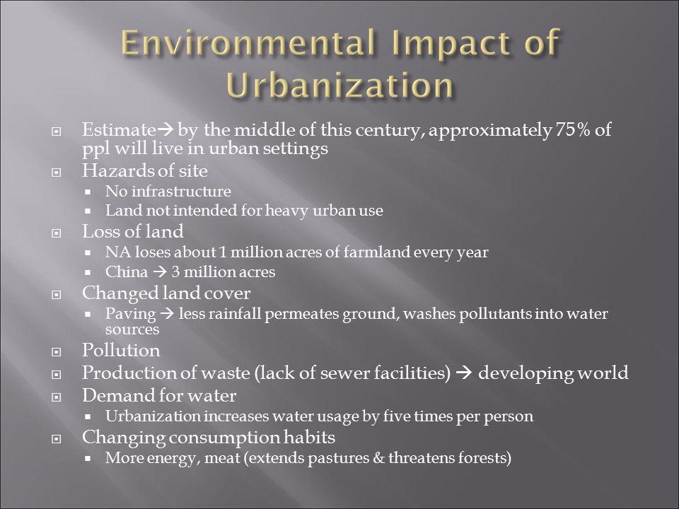 Environmental Impact of Urbanization