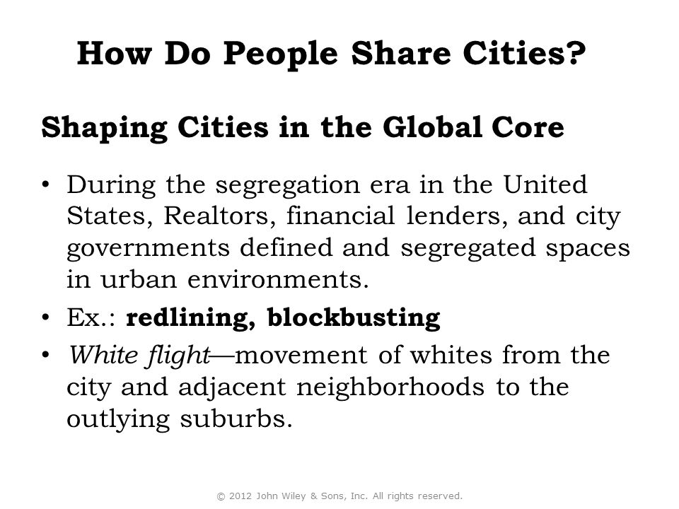 Shaping Cities in the Global Core