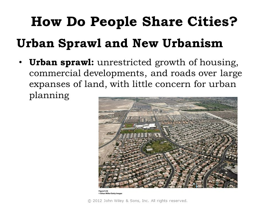Urban Sprawl and New Urbanism