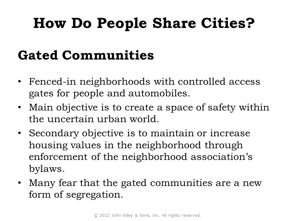 How Do People Share Cities