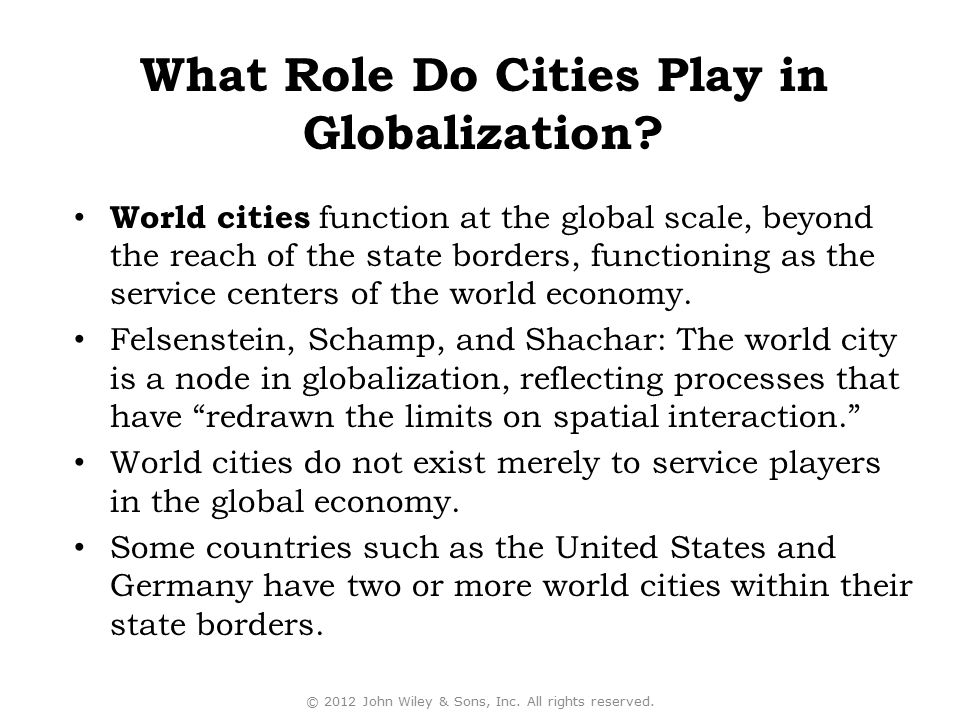 What Role Do Cities Play in Globalization