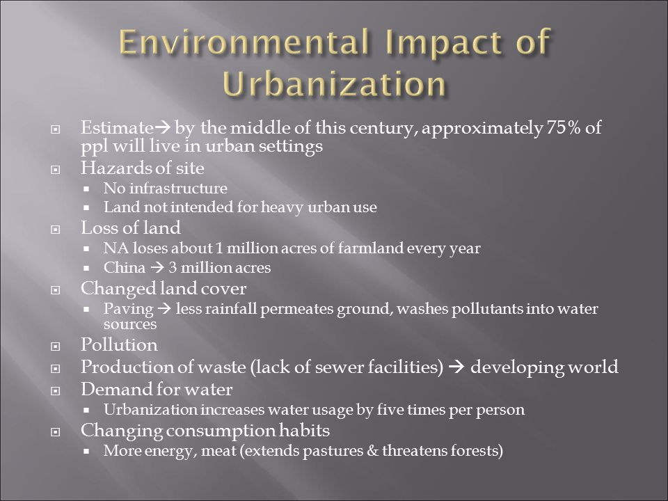 Environmental Impact of Urbanization