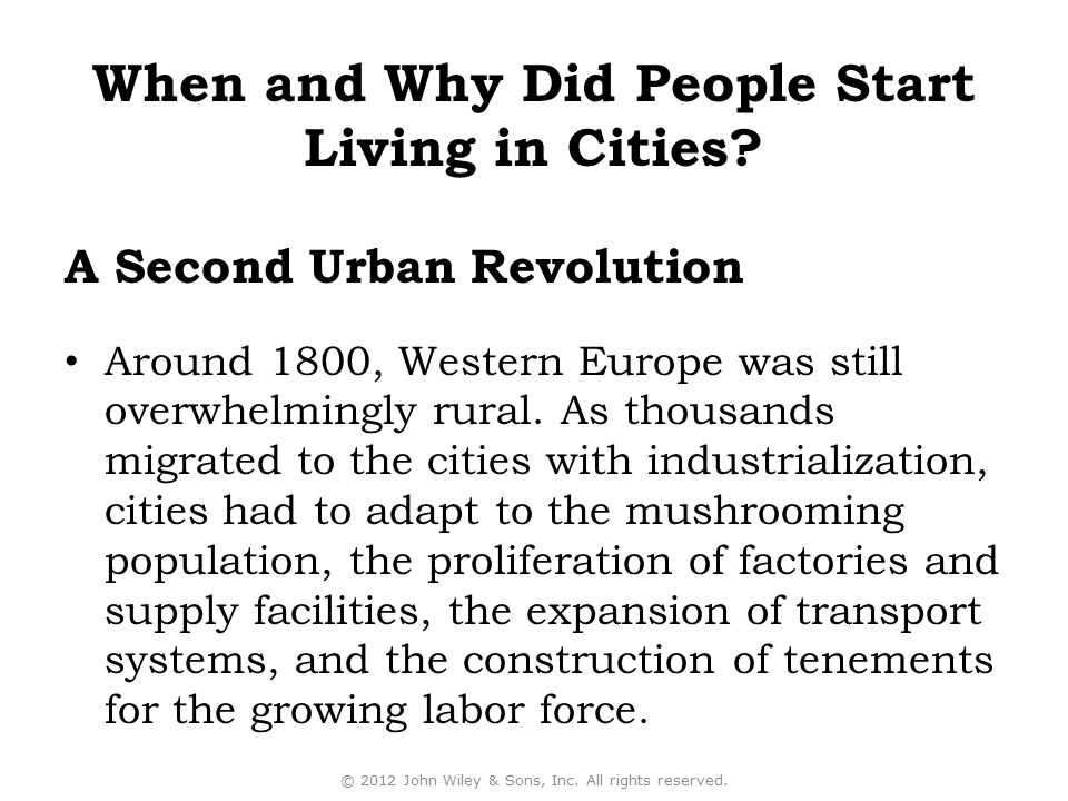 A Second Urban Revolution