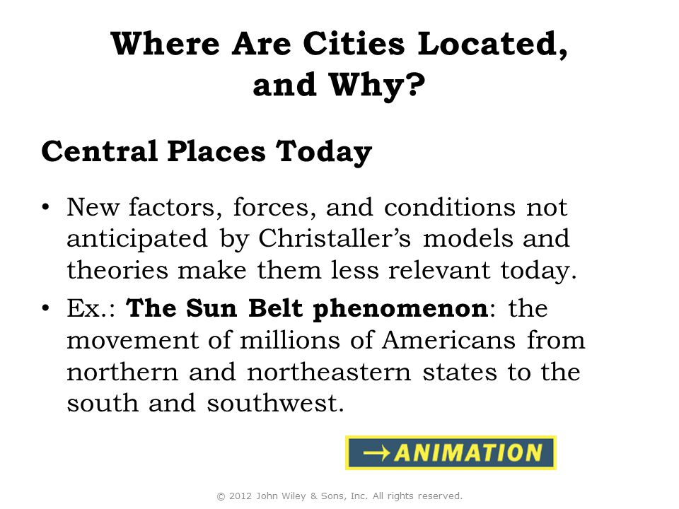 Where Are Cities Located, and Why