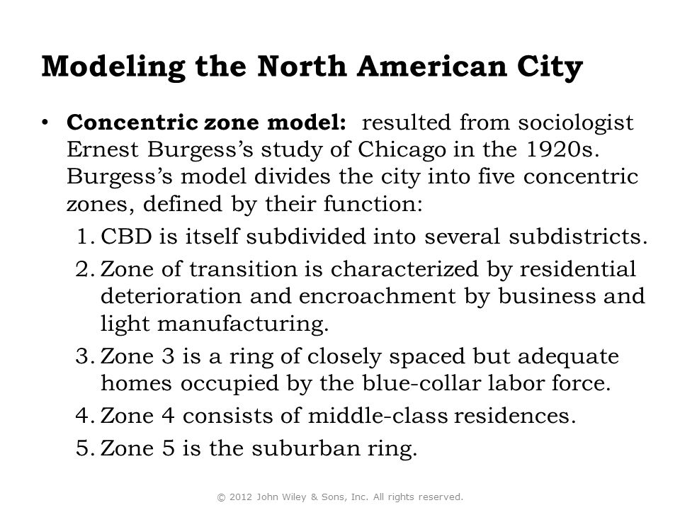 Modeling the North American City